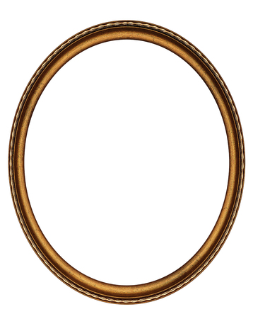 Oval frame isolated on white