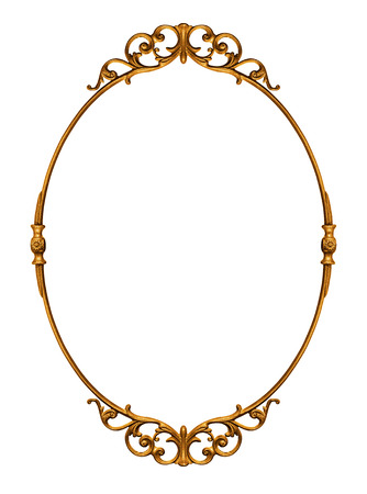 Foto per Elegantly golden antique frame isolated on white - Immagine Royalty Free