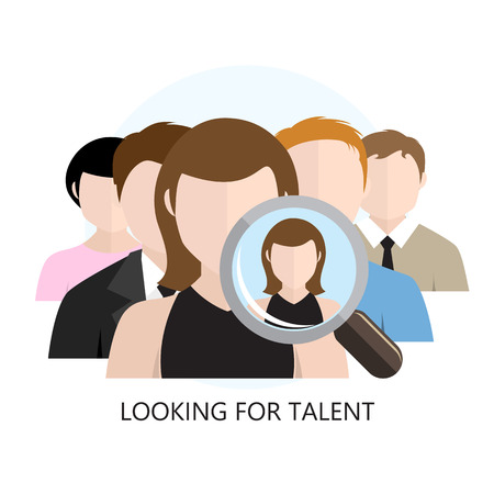 Looking for Talent Icon Flat Design Isolated on White