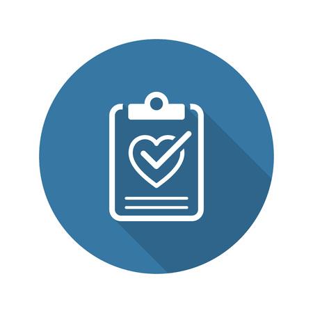 Foto de Health Tests and Medical Services Icon. Flat Design. Isolated. Long Shadow. - Imagen libre de derechos