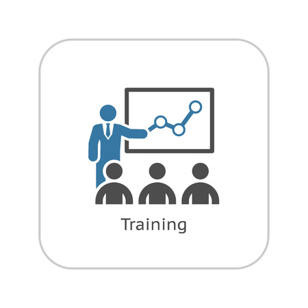 Illustration for Training Icon. Business Concept. Flat Design. Isolated Illustration. - Royalty Free Image