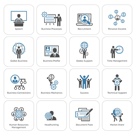 Illustration for Flat Design Icons Set. Business and Finance. - Royalty Free Image