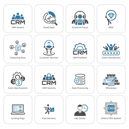 Illustration pour Flat Design Icons Set. Business and Finance. Isolated Illustration. - image libre de droit