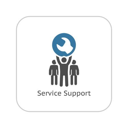 Illustration pour Service Support Icon. Flat Design Isolated Illustration. - image libre de droit