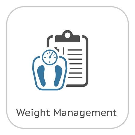 Ilustración de Weight Management Flat Icon - Imagen libre de derechos