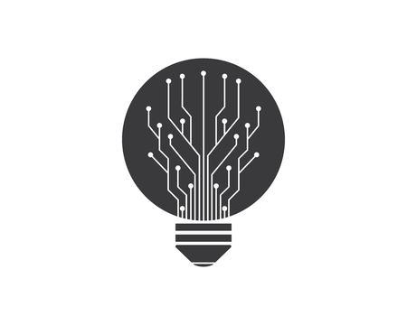 circuit board line bulb concept design illustratio