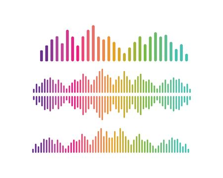 Illustration pour sound wave,pulse ilustration logo vector icon template - image libre de droit