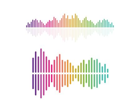 Illustration for sound wave,pulse ilustration logo vector icon template - Royalty Free Image