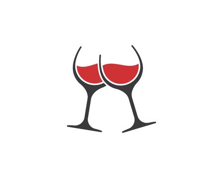 Illustration pour wine glasses toasting logo icon vector template - image libre de droit