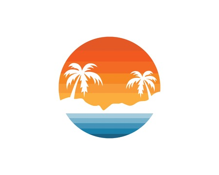 Illustration pour beach vector illustration icon of travel and holiday design - image libre de droit