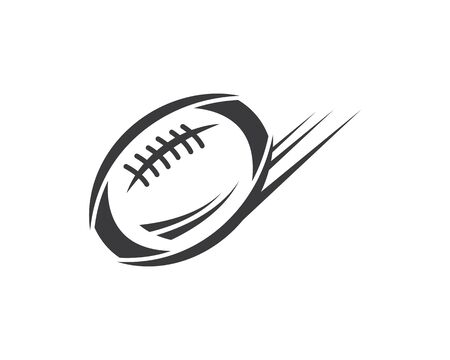 Photo for rugby ball icon vector illustration design template - Royalty Free Image