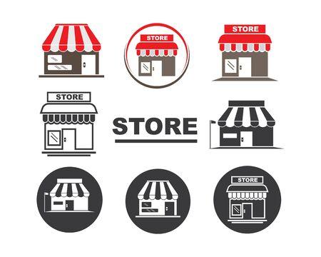 Illustration pour store icon logo vector illustration design - image libre de droit
