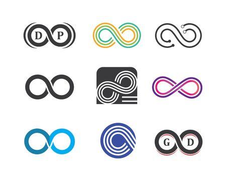 Ilustración de Infinity logo icon vector illustration design template  - Imagen libre de derechos