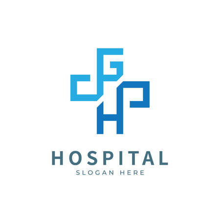 Illustration pour Hospital logo with initial letter logo designs concept. Medical health-care logo designs template. - image libre de droit