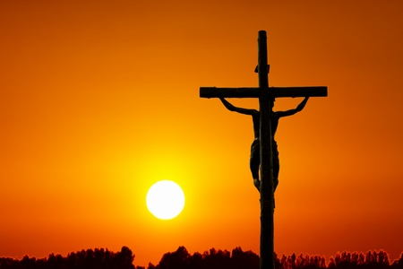 Photo for Holy cross at sunset - Royalty Free Image