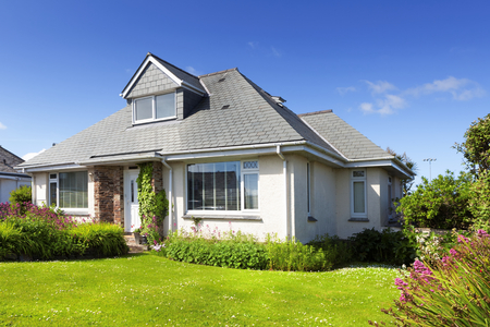 Photo for Traditional english detached house with garden - Royalty Free Image