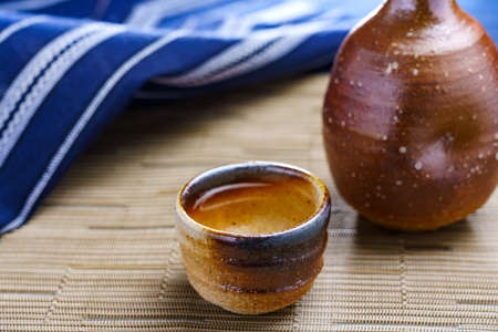 Photo pour Japanese hot liquor 'Sake'. Sake is a Japanese national liquor - image libre de droit