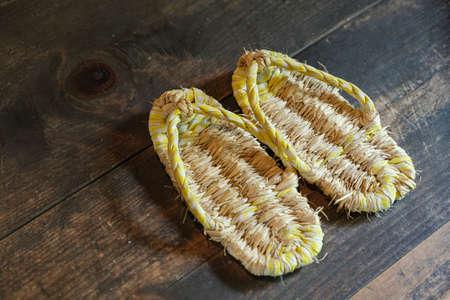 Photo pour Waraji is Japanese tradtional straw sandals - image libre de droit