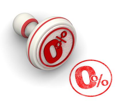 Zero percent. Seal and imprint