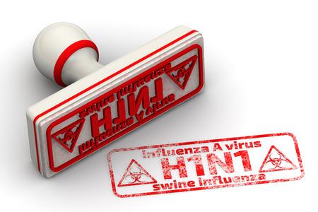 Influenza A virus H1N1. Swine influenza. Seal and imprint