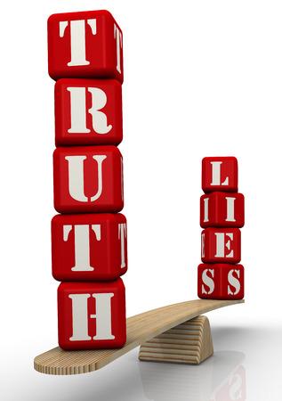 Photo pour Truth or lies - image libre de droit