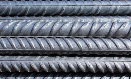 Photo pour bundle of steel reinforcement bars - image libre de droit