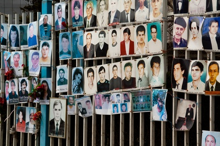 Wall of missing persons, Pristina, Kosovo