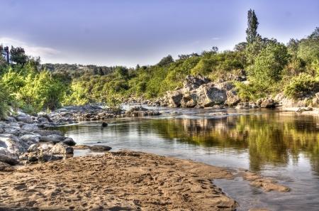 View over the river in Cuesta Blanca, Cordoba, Argentina