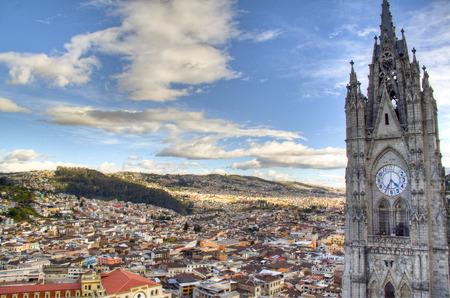 View over the city of Quito, Ecuador