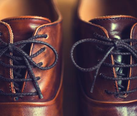 Photo pour Fashion brown men shoes  - image libre de droit