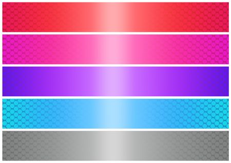 Abstract banner of five colors on a white background. easily cropping