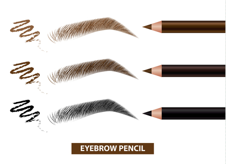 Illustration pour Eyebrow pencil color swatch vector illustration - image libre de droit