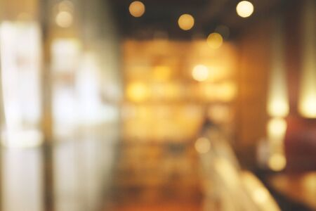 Photo pour Background blurred Modern cafe, cafe blurred background with bokeh - image libre de droit