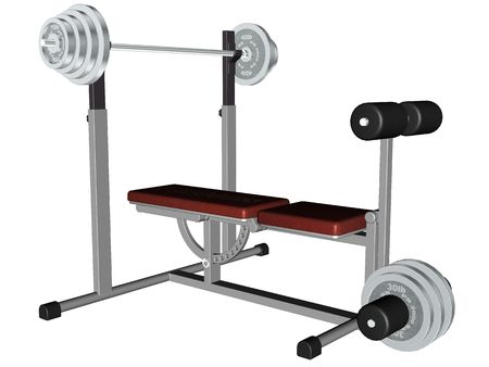 3D rendered excersise equipment rendered on white bachground isolated