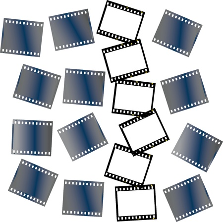 pieces of filmstrips