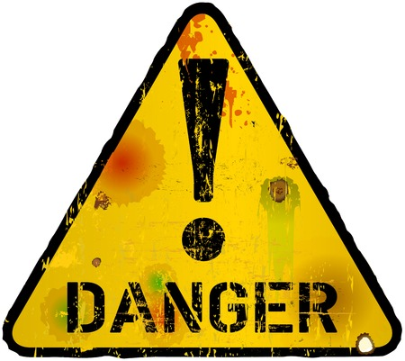danger sign, warning sign, vector illustration