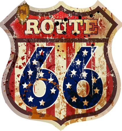 Foto de road sign, fictional design retro style, vector - Imagen libre de derechos