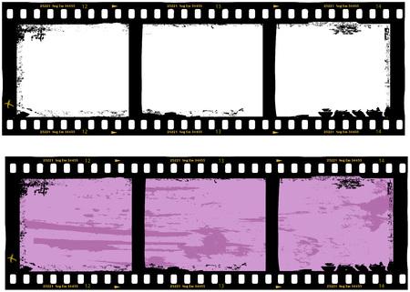 Illustration pour frame of film, grungy photo frame,with free copy space,vector,fictional artwork - image libre de droit