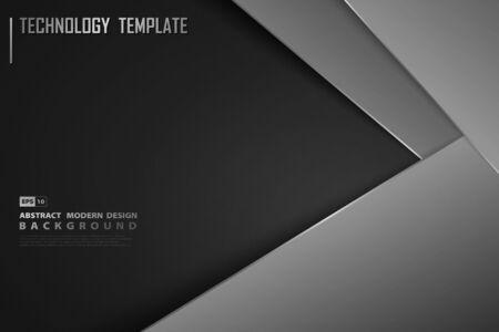 Illustration pour Abstract modern gradient black template design of decoration background. - image libre de droit