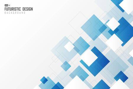 Illustration pour Abstract gradient blur square tech design technology pattern background. - image libre de droit