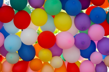 An Array of Colorful Balloons
