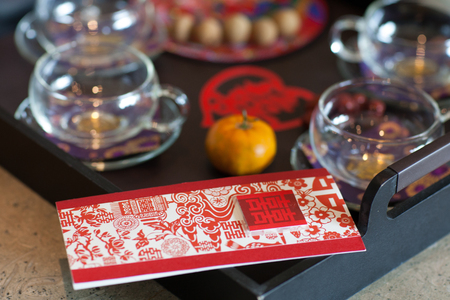 Photo pour traditional chinese wedding tea ceremony cutlery and serving - image libre de droit