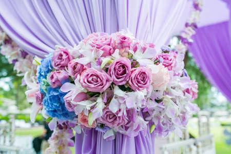 Foto für Floral arrangement at a wedding ceremony in Thailand. - Lizenzfreies Bild