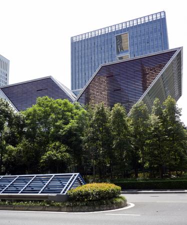 Xinhua News Agency building exterior landscape view