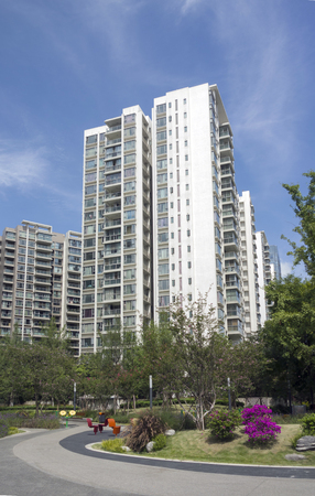Residential building exterior view in Chengdu hi tech Zone