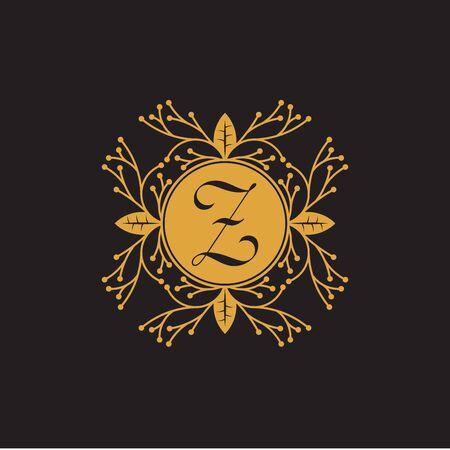 Illustration pour Initial Letter z, Luxury Logo for boutique, cosmetic, or jewelery logo design. Vector Illustration - image libre de droit