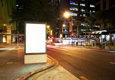 Billboards on city roads