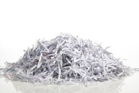 Close up of shredded paper for background.