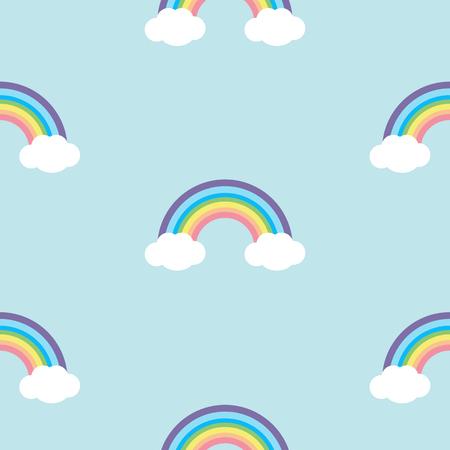 Pastel rainbow seamless pattern