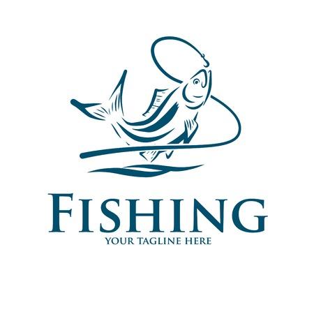 Illustration pour logo and icon for fishing - image libre de droit